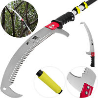 1.8-7.2m Telescopic Pole Pruner Saw Saw Blade Pruning 6-24 ft Aluminum Tube Lawn