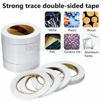 25M White Rolls Double-Sided Super Strong Adhesive Glue Tape Sticker 3mm-40mm