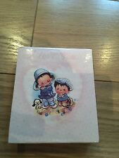 "Vintage 70s cartoon ""I Love you"" Character Memo Block Telephone note pad Paper"