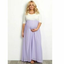 Long Pregnancy Dress Maxi Formal Gown For Women's Maternity Attire Half-sleeves