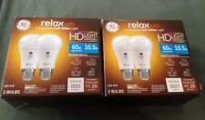 Pair of GE General Electric Relax LED Soft White Bulb HD 60W Replacement 2 Pack