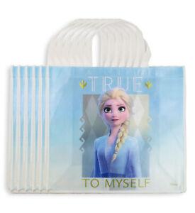 """Disney Frozen Reusable Tote Bag Set of 6 - Medium Non-Woven Eco Bags - 10"""" x 7"""""""