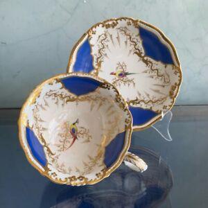 "Graingers Worcester breakfast cup & saucer ""Gloster"" shape, c. 1840"