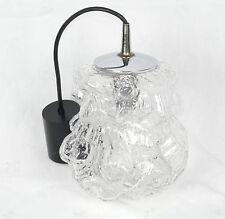 Peill & Putzler Alaska Lampe Eisglas Ice Glass Pendant Lamp 70er