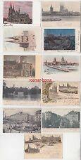 78313/11 Ak Köln Barbarossaplatz, am Rheinufer, Hohenstaufenring usw. um 1910