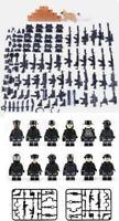 Custom Police SWAT Minifigures Guns Soldiers Police + Bonus Army & Weapons Pack