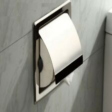 Tissue Box Holder Chrome Finish Stainless Steel Bathroom Toilet Paper Holder