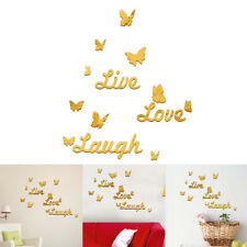 Live Love Laugh Autocollant Mur Citation Art Décoration Salon Maison Chambre NF
