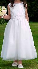 Girl's pretty Ivory Flowergirl formal Party Wedding Communion Dress 7 years