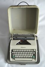 IMMACULATE & VERY LIGHTLY USED 1960'S OLYMPIA SM9 TYPEWRITER W/ CASE & BRUSH