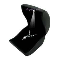 LilyTreacy Necklace Pendant Box Case led light PULeather Jewelry Brooch CoinGift