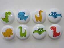 Set of 8 Boys Dinosaur Dresser Drawer Knobs