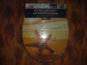 """WC Sitz """"Seestern"""" mit Absenkautomatik und Schnellverschluss"""