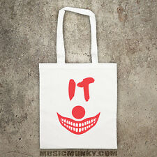 Like Pennywise IT classic movie Stephen King tote bag shopper Halloween HORROR