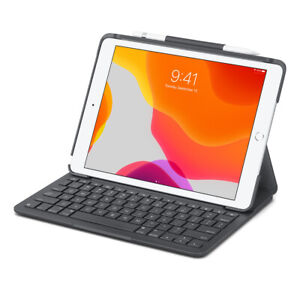 Logitech Slim Folio Case Integrated Bluetooth Keyboard iPad 7th & 8th Generation