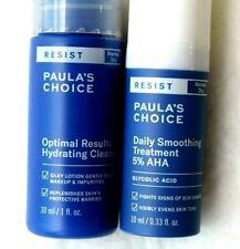 Paula's Choice Anti Aging Smoothing Treat/5% AHA Glycolic/Hydrating Cleanser SET