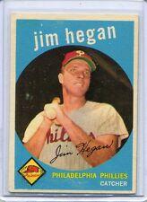 1959 Topps Baseball Card Jim Hegan Catcher Philadelphia Phillies NR Mint # 372