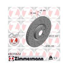 2x Disque de frein ZIMMERMANN (610.3726.52)