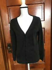 Ann Taylor LOFT Size Medium Black Button Up Cardigan cardi