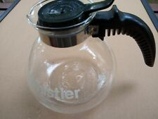 The Whistler Glass Tea Kettle Coffee Pot Gemco U.S.A.  Complete 8 Cup NICE!
