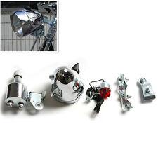 12V 6W Motorized Bike Friction Generator Dynamo Headlight Tail Bulb Light Set