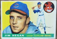 1955 Topps Baseball Card, #7 Jim Hegan, Cleveland Indians - VG