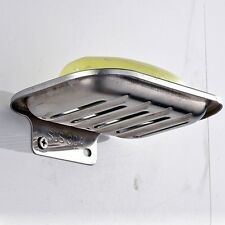 1Pc Stainless Soap Dish Holder Wall Mount Commodity Shelf Home Bathroom Supplies
