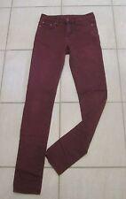 Sportsgirl Stretch Skinny Jeans Burgundy Purple Size 8