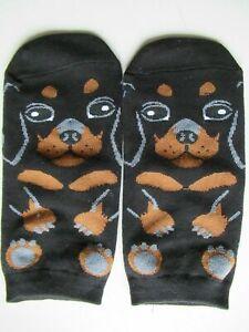 NEW Ladies Girls (1 Pair) Dachshund Puppy Sausage Dog Ankle / Trainer Socks