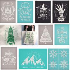 1X Self-Adhesive Silk Screen Printing Mesh Transfers Stencil For Bag Board Shirt