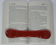 BookBone® Weighted Rubber Bookmark - Holds Books Open - RED - Made in USA
