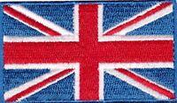 British UK Flag Small Iron On / Sew On Patch Badge 6 x 3.5cm AIRSOFT UNION JACK