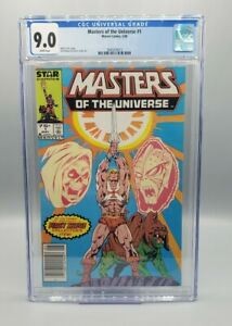 Masters of the Universe #1 Newsstand CGC 9.0  Marvel Netflix show coming (1986)
