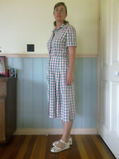 vintage 1950's day shirt dress rockabilly