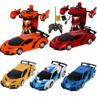 Rc Transformer 2in 1 Sports Car Transformation Robots 1:18 Xmas Gift Toy