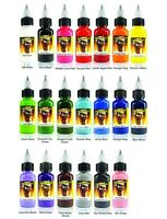 SCREAM TATTOO INK 20-PACK Color Set 1/2-oz Bottles Black Bright Vibrant Supply