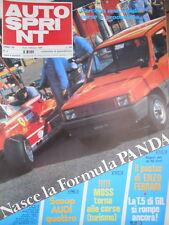 Autosprint 8 1980 Mini Poster Enzo Ferrari. La T.5 di Gilles. Scoop Audi4 [Q105]