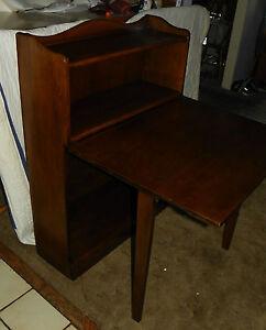 Solid Walnut Bookshelf / Desk by Davis  (DR2)