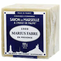 """Marius Fabre Sapone di Marsiglia """"Cubo"""" Olio di Palma 400g Originale Francese"""