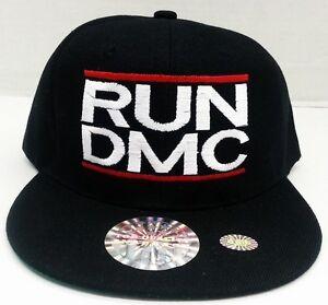 RUN DMC SNAPBACK SNAP BACK CAP HAT ***RUN DMC*** RUN DMC BLACK