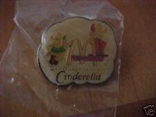 "1987 Cinderella McDonalds Employee Only pin 1 1/8"" x 3/4"" still sealed Mint"