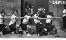 1920's High School Girl Cheerleaders With Onlookers Cheerleader