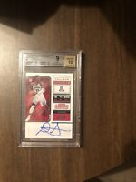 DeAndre Ayton Suns 2018-19 Contenders Draft College Ticket On Card Auto BGS9/10