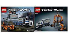 1 NEUE Lego-Technik Bauanleitung/Instruction Container-Transport (42062)