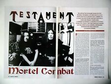 COUPURE DE PRESSE-CLIPPING :  TESTAMENT [3pages] 02/2002 Eric Peterson,First...