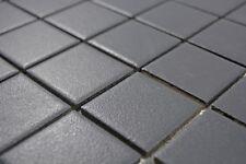 Mosaïque carreau céramique noir cuisine mur sol bain 14-0311-R10_b   1 plaque