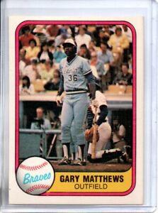 1981 FLEER GARY MATTHEWS (NM/MT)