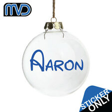 2x Personalised name vinyl decal sticker for xmas, glass, crafts, bauble