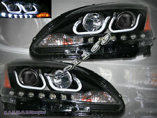 FOR NISSAN SENTRA 2013 2014 LED U-BAR STYLE HALO BLACK PROJECTOR HEADLIGHTS
