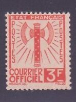 "FRANCE STAMP TIMBRE DE SERVICE 10 "" FRANCISQUE 3F ORANGE "" NEUF xx TTB"